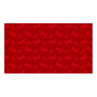 Modelo rojo lindo de los huesos de perro plantillas de tarjetas personales