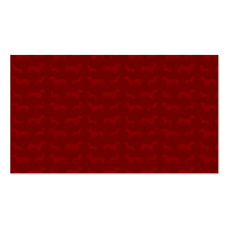 Modelo rojo lindo del dachshund tarjetas de visita