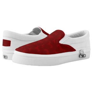 Modelo rojo lindo del dachshund zapatillas