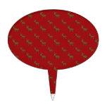 Modelo rojo lindo del reno figuras para tartas