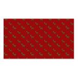 Modelo rojo lindo del reno plantillas de tarjeta de negocio