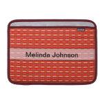 Modelo rojo lindo personalizado fundas MacBook