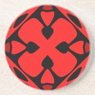 Modelo rojo llamativo posavasos manualidades