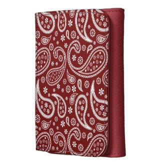 Modelo rojo marrón de Paisley - de moda y elegante