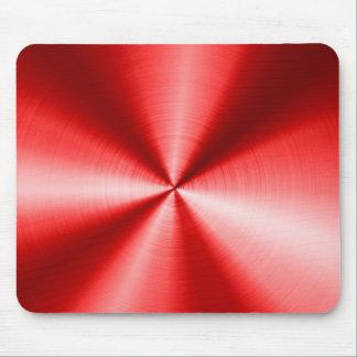 Modelo rojo metálico de la mirada del acero inoxid tapete de ratones