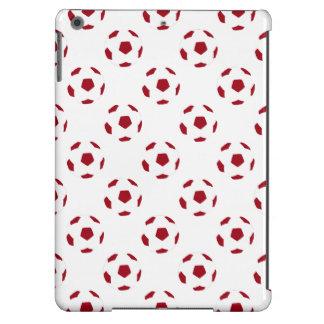 Modelo rojo oscuro del balón de fútbol funda para iPad air