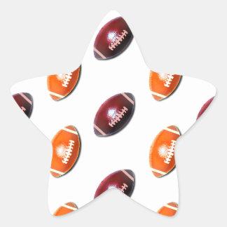 Modelo rojo oscuro y anaranjado del fútbol pegatina en forma de estrella