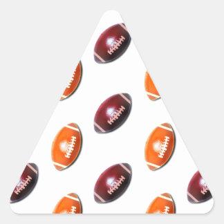 Modelo rojo oscuro y anaranjado del fútbol pegatina triangular