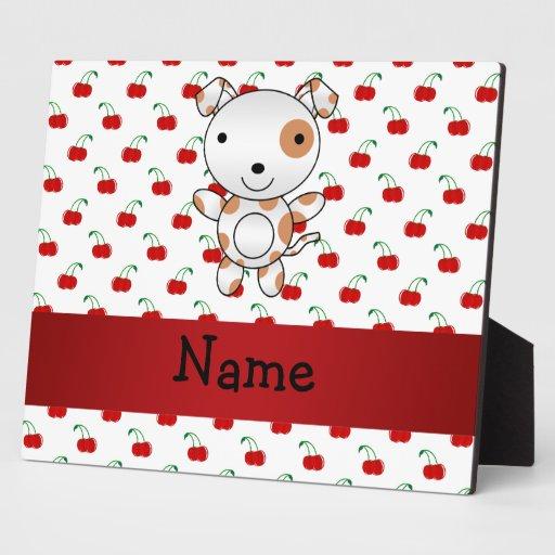 Modelo rojo personalizado de la cereza del perro l placas de plastico