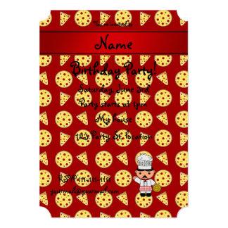 Modelo rojo personalizado de la pizza del cocinero anuncio