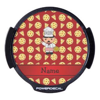 Modelo rojo personalizado de la pizza del cocinero sticker LED para ventana