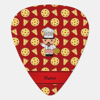 Modelo rojo personalizado de la pizza del cocinero uñeta de guitarra