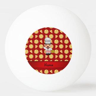 Modelo rojo personalizado de la pizza del cocinero pelota de tenis de mesa