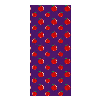 Modelo rojo púrpura de la manzana tarjetas publicitarias personalizadas