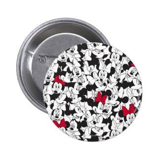 Modelo rojo rojo del arco de Minnie el | Pin Redondo De 2 Pulgadas