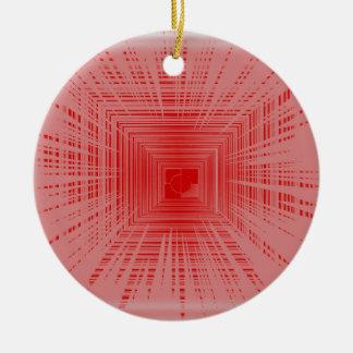 Modelo rojo romántico del TÚNEL de la raya Adorno De Navidad