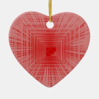 Modelo rojo romántico del TÚNEL de la raya Adornos