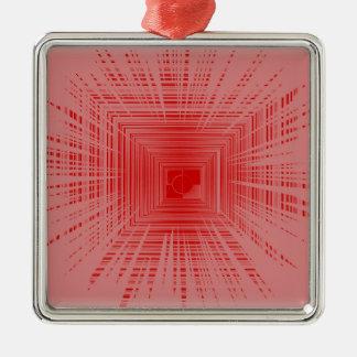 Modelo rojo romántico del TÚNEL de la raya Adorno Para Reyes