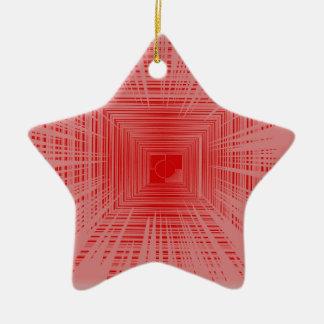Modelo rojo romántico del TÚNEL de la raya Ornamentos De Reyes Magos