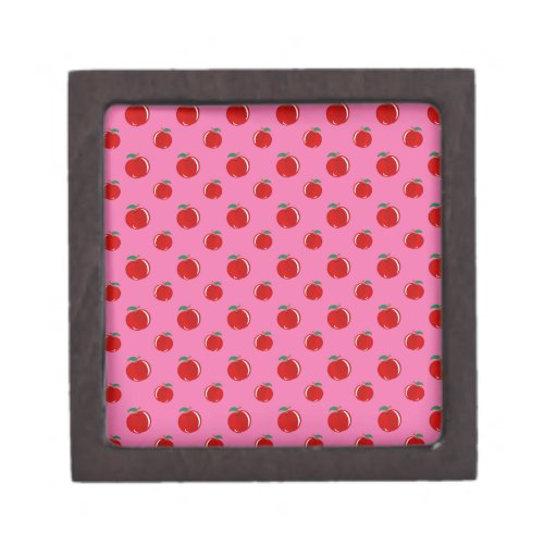 Modelo rojo rosa claro de la manzana caja de regalo de calidad