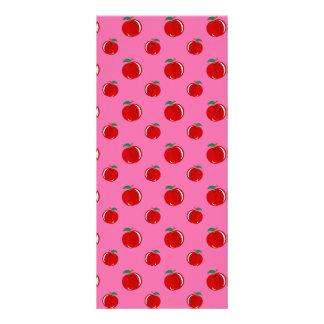 Modelo rojo rosa claro de la manzana tarjetas publicitarias
