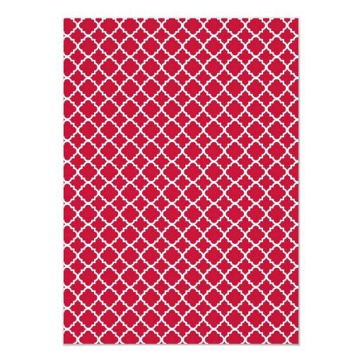 Modelo rojo simple del día de fiesta del navidad invitación 11,4 x 15,8 cm