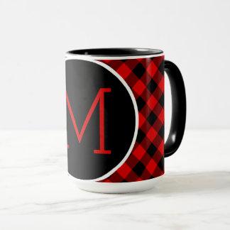 Modelo rojo tradicional de la tela escocesa del taza