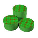Modelo rojo verde claro de la tela escocesa del juego de fichas de póquer
