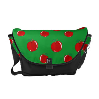 Modelo rojo verde de la manzana bolsas de mensajería
