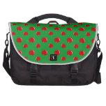 Modelo rojo verde de la manzana bolsas para portátil