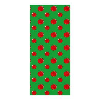 Modelo rojo verde de la manzana tarjeta publicitaria personalizada