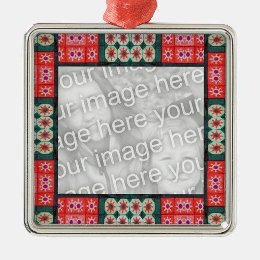 Modelo rojo verde Photoframe del navidad Ornato