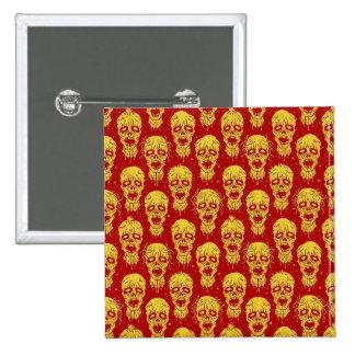 Modelo rojo y amarillo de la apocalipsis del zombi pins