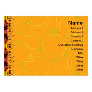 Modelo rojo y amarillo grande plantillas de tarjetas personales