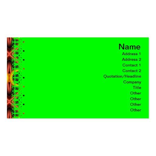 Modelo rojo y amarillo grande tarjetas de visita