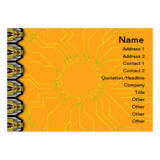 Modelo rojo y amarillo pequeño tarjeta de visita