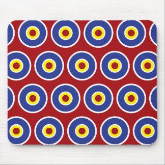 Modelo rojo y azul de la diana de los círculos con mouse pads
