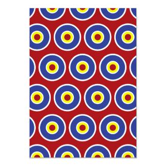 """Modelo rojo y azul de la diana de los círculos invitación 5"""" x 7"""""""