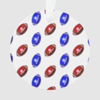 Modelo rojo y azul del fútbol