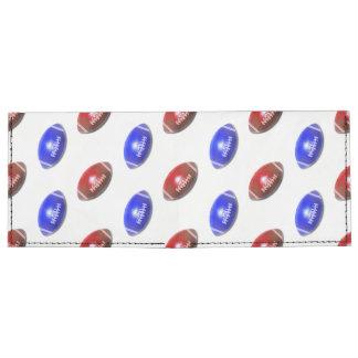 Modelo rojo y azul del fútbol billeteras tyvek®