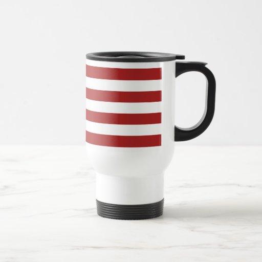 Modelo rojo y blanco básico de las rayas tazas de café