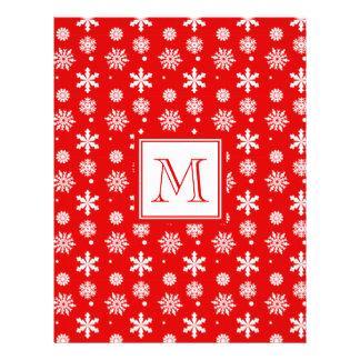 Modelo rojo y blanco brillante 1 de los copos de n tarjetas informativas