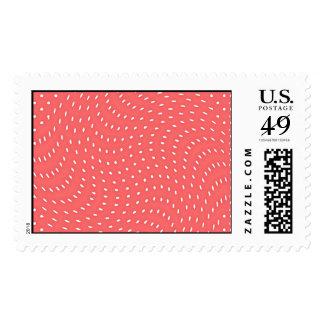 Modelo rojo y blanco de la amapola de lunares sello