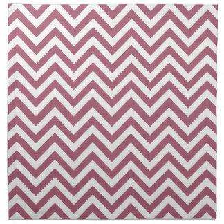 Modelo rojo y blanco de la baya de zigzag servilletas