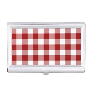 Modelo rojo y blanco de la guinga cajas de tarjetas de presentación