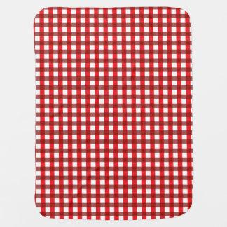 Modelo rojo y blanco de la guinga mantas de bebé