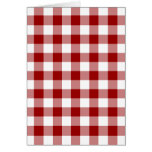 Modelo rojo y blanco de la guinga tarjeta de felicitación