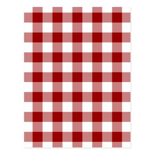 Modelo rojo y blanco de la guinga tarjeta postal