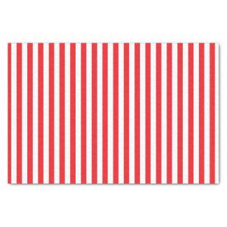 Modelo rojo y blanco de las rayas papel de seda pequeño