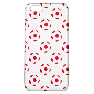 Modelo rojo y blanco del balón de fútbol